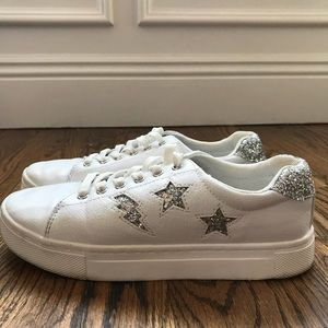 **H&M WORN ONCE SEQUIN STAR/LIGHTENING SNEAKERS**